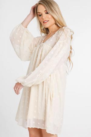 Swiss Miss Babydoll Dress, Ivory