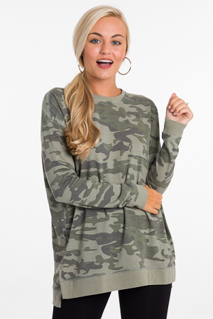 Fanning Sweatshirt, Green