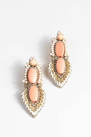Glam Peach Earring