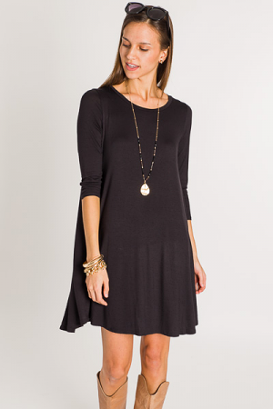 Keep It Cool T-Shirt Dress, Black