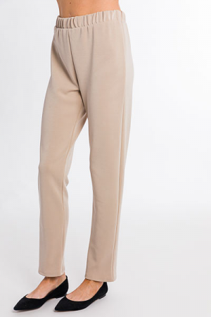 Soft Knit Trousers, Stone