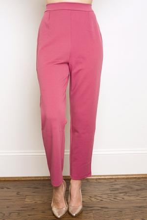 Straight Stretch Trouser, Mauve