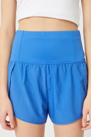 Active High Rise Shorts, Blue