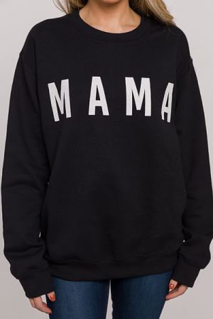 Mama Sweatshirt, Black