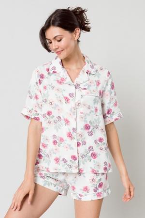 Floral PJ Set, Off White