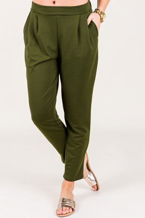Sinfully Soft Pants, Olive
