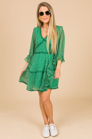 Missy Floral Dress, Green