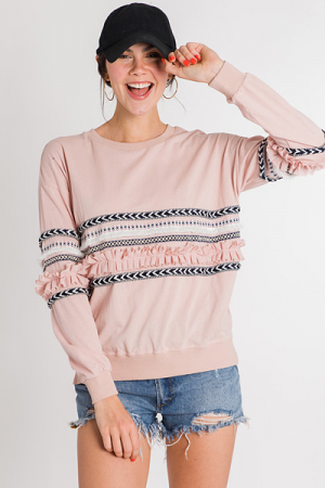 All Over It Pullover, Blush