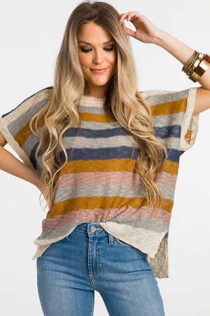 Free Stripes Summer Sweater