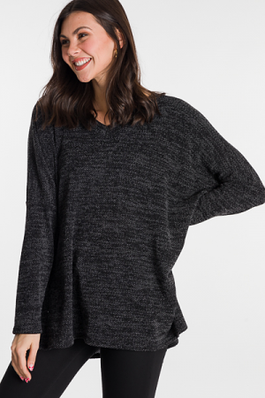 Knit Girl Tunic, Black
