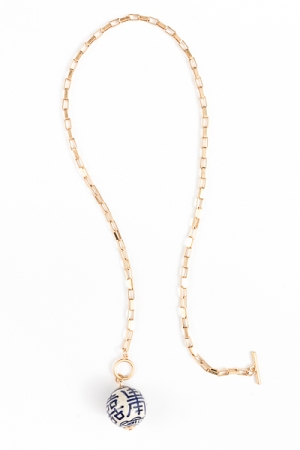 """24"""" Chinoserie Charm Necklace"""