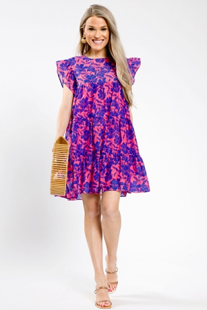Cotton Cutie Dress, Coral