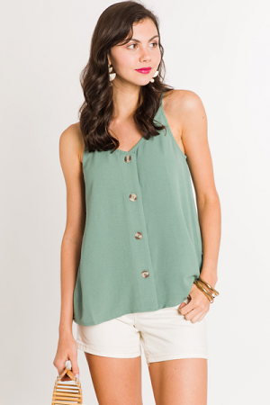 Buttoned Up Cami, Sage