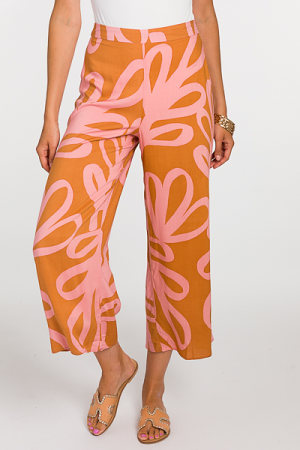 Smooth Printed Pant, Rust