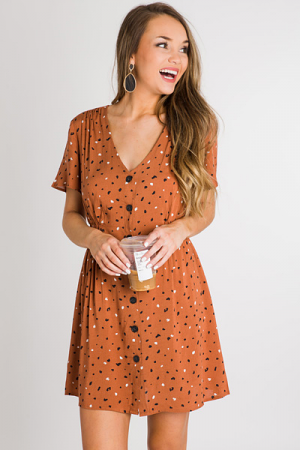 Pebbles Button Dress