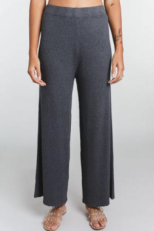 Knit Ribbed Pants, Grey