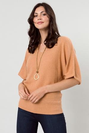 Kimono Sleeve Sweater, Camel