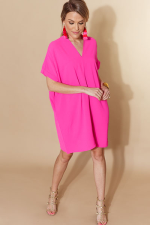 Classic Karlie Dress, Hot Pink