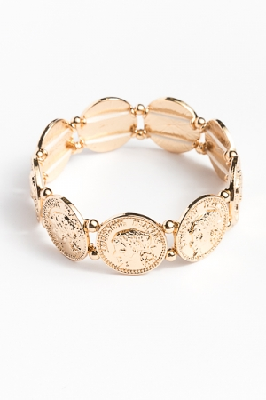 Stretchy Coin Bracelet