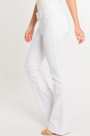 Ashley White Flares