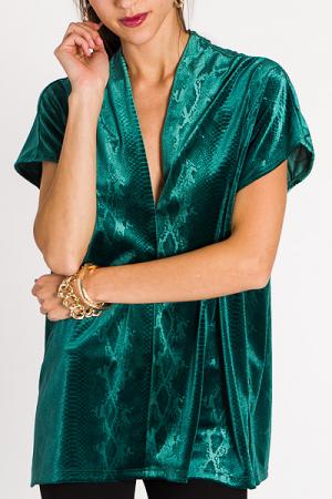Classic Karlie Tunic, Velvet Snake