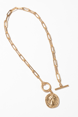 Toggle Coin Necklace