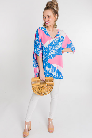 Favorite Boxy Tunic, Pink Palm