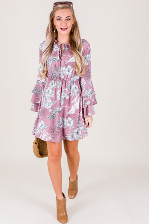 Mauve and Moss Dress