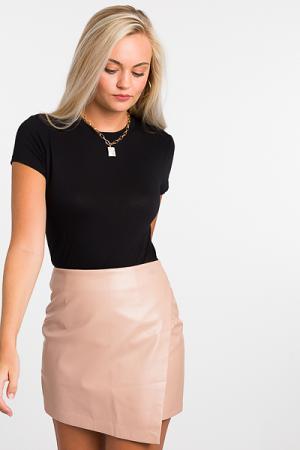 Madonna Leather Envelope Skirt