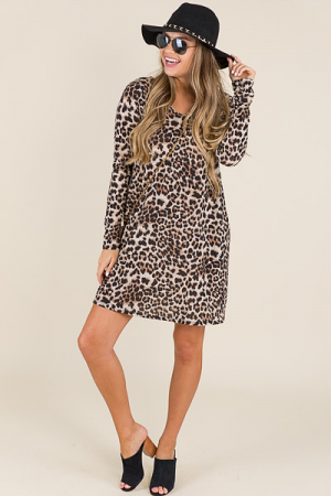 Kinsley Leopard Sweater Dress