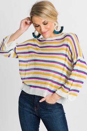 Fun Stripes Summer Sweater