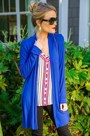 Koda Cardigan, Royal Blue