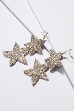 Silver Stars Earring