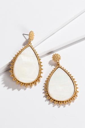 Elegant Earrings, White