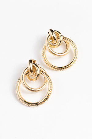 Posh Circles Earring, Gold