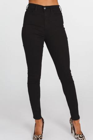Stella Mid-Rise Skinny, Black