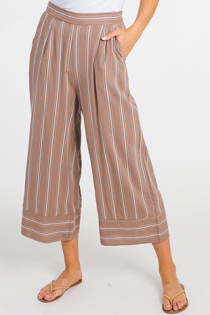 Pinstripe Crop Pant, Coco