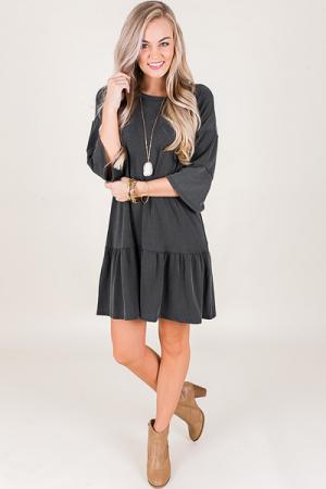 Rochelle Dress, Grey