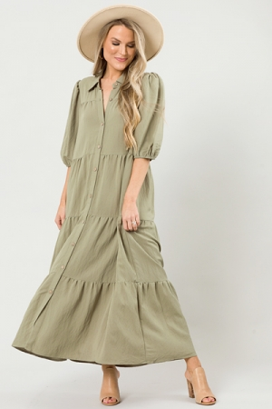 Carrie Buttoned Maxi, Sage
