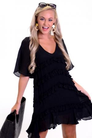 Sweetie Swing Dress, Black