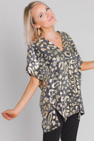 Mirrored Specks Cheetah Tunic