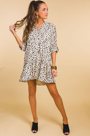 Spotted Cargo Dress