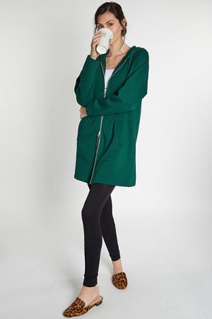 Two Way Zip Jacket, Green
