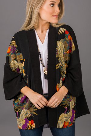 Bird Lady Cardigan, Black