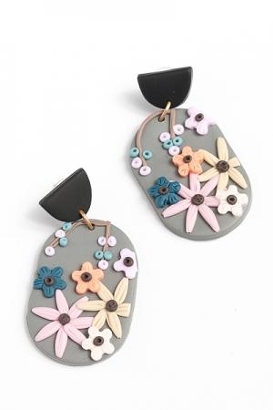 Clay Floral Earrings