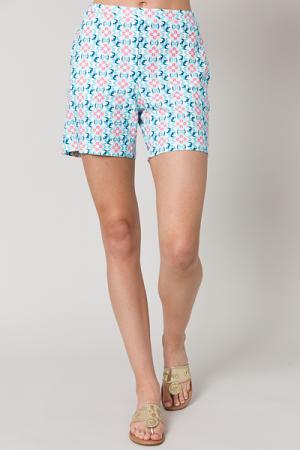 Liquid Heaven Shorts, Aqua Print