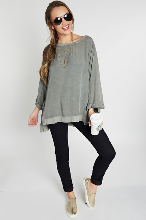 Mineral Quarter Sleeve Top