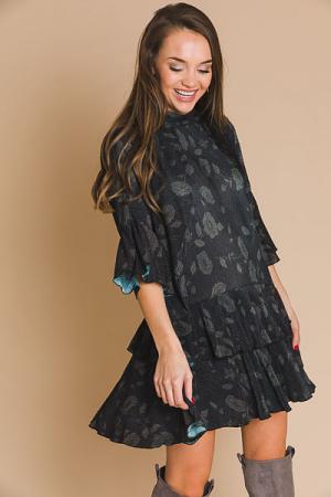 Floral Crinkle Dress