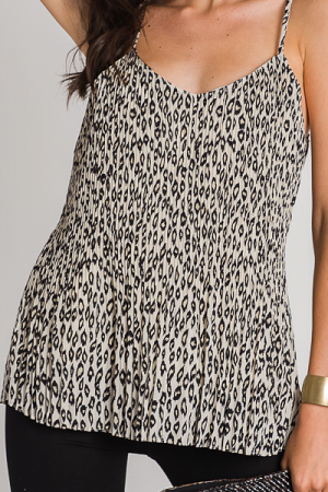 Cheetah Pleats Cami
