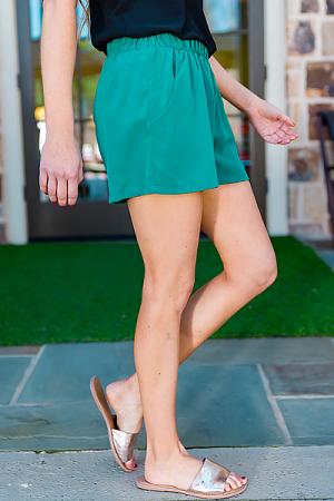 Pull On Shorts, Jade